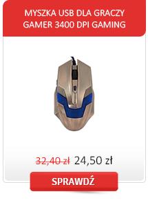 MYSZKA USB DLA GRACZY GAMER 3400 DPI GAMING